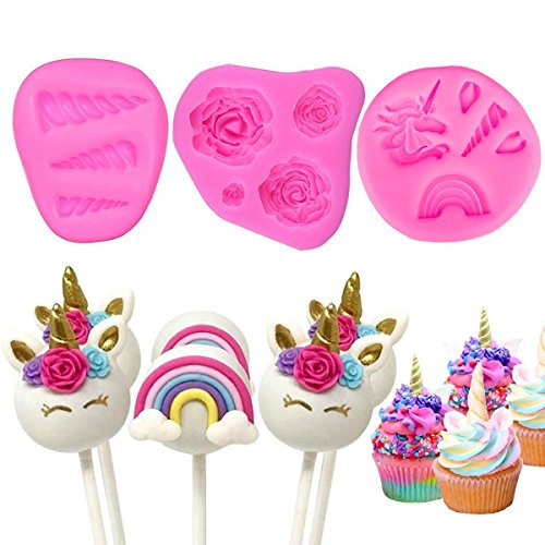 Witch's Magic House Molde unicornio decoración tartas