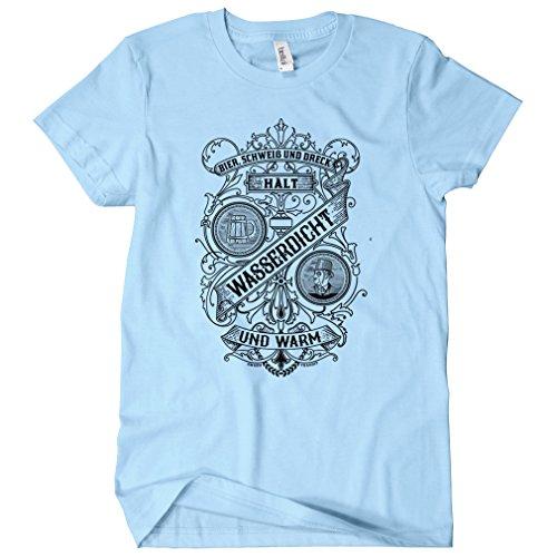 Smash Transit - T-shirt - Col Rond - Manches Courtes - Femme bleu clair