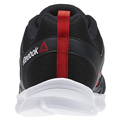 Reebok Speedlux, Scarpe da Corsa Uomo Grigio (Coal / Riot Red / White) (rosso, bianco)