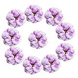 MagiDeal 10er Set Vintage Seidenrosen Künstliche Blumen Köpfe Blütenköpfe Kunstblumen Hochzeit Party Deko - Lila