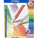 Lyra 2531360 Osiris - Lápices acuarelables de colores con pincel