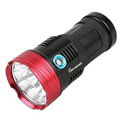 GiareBeam LED-Taschenlampe, besonders hell, 10000Lumen, Militär-Taschenlampe, wasserdicht, Notfall-Taschenlampe für den Innen- und Außenbereich von GiareBeam bei Outdoor Shop