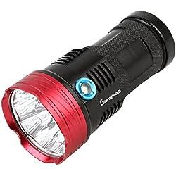 GiareBeam Lampe de poche LED étanche 10000lumens pour activités intérieures et extérieures