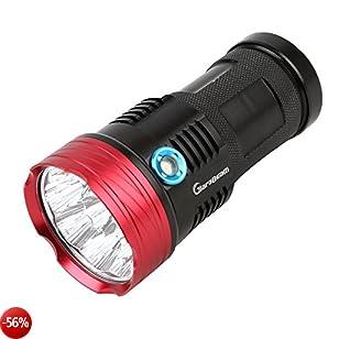 Giarebeam Torcia LED super luminosa, 10000Lumen, Tattica, Militare, Impermeabile, Torcia di emergenza, per interni e attività all'aperto