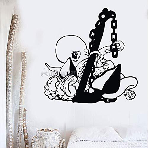 guijiumai Angebote Nautical Home Decor Octopus Wandaufkleber Vinyl Wandtattoo Tier Cartoon Dekorationen Jungen Zimmer Tapete 8 85X87 cm