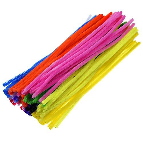 eboot-100-pieces-cure-pipes-pour-arts-et-metiers-6-x-300-mm-multicolore