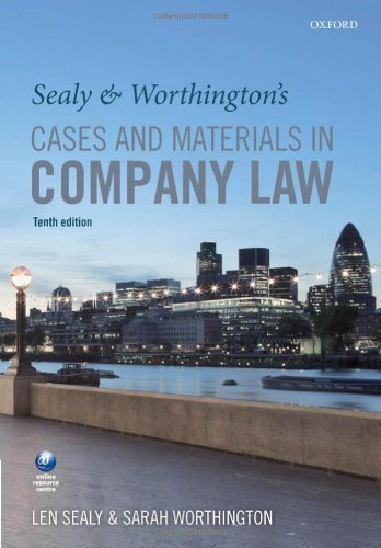 sealy-worthingtons-cases-and-materials-in-company-law-by-sealy-len-worthington-sarah-2013-paperback