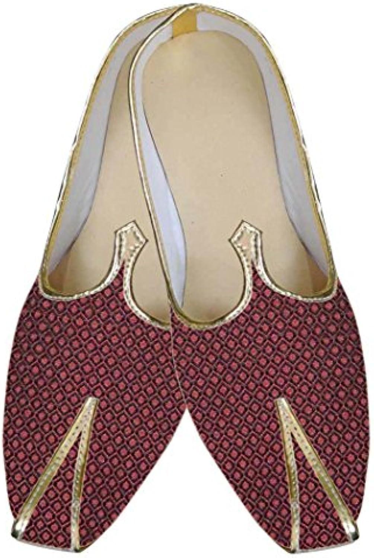 INMONARCH Herren Kastanienbraun Indische Designer Schuhe MJ0041