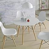 Mesa de Comedor de estilo Nórdico : Colección SUECIA RD de 90x73x90
