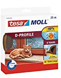 Tesa 05389-00001-00Moll d-profile paraspifferi per porte e finestre, marrone, 25m x 9mm