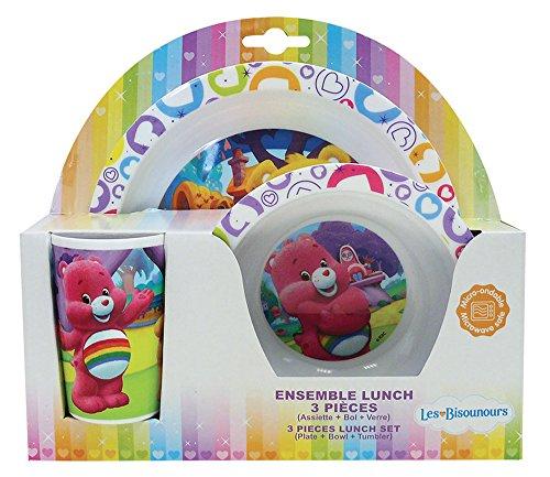 FUN HOUSE 005360 Bisounours Ensemble de Repas pour Enfants Polypropylène Multicolore 26,5 x 7 x 25 cm 3 Pièces