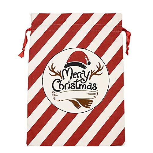 Toasye Geschenktüten Weihnachten Xmas Party Kostüm Süßigkeiten Geschenk Säcke Ihre Liebhaber Christmas Canvas Geschenktüte Weihnachten Christmas nikolaussack geschenksack weihnachtsmann süßigkeiten (Liebhaber Paket Kostüm)