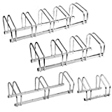 Torrex Fahrradständer für 2, 3, 4 oder 5 Fahrräder aus verzinktem Stahl Boden- und Wandmontage Fahrradhalter Mehrfachständer (Für 2 Fahrräder)