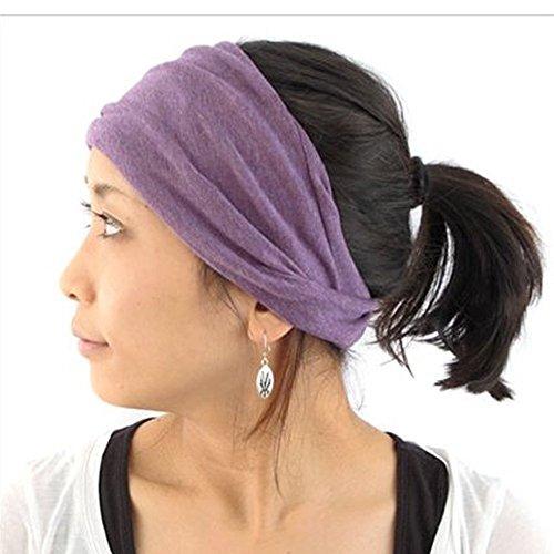 4f301ae8530ca7 Casualbox Damen Hergestellt in Japan Stirnband Headband Haar Band Bio  Baumwolle Haut Lila