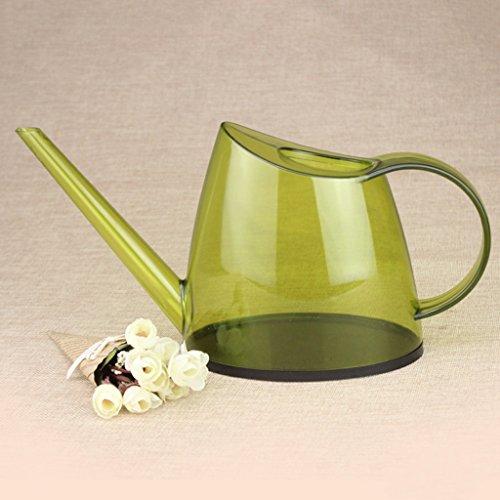 Wddwarmhome Les petites plantes en pot de maison de bureau en plastique de la bouilloire PP d'arrosage translucide de 1,4 L arrosant peuvent ( Couleur : Vert clair )