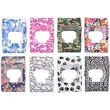 XCSOURCE® 8 piezas Cubierta de banda colorida delgado diseñador protector de la manga Para Fitbit Surge TH437