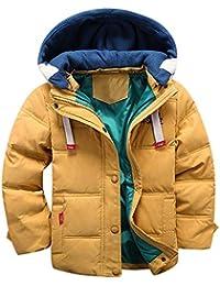 Ropa para niños Chaqueta Abrigada a Prueba,JiaMeng Abrigo de Invierno con Capucha Capa Chaqueta Ropa de Abrigo Abrigada Gruesa