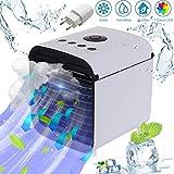 Miaogo Tragbare Klimaanlage Luftkühler 3 in 1 Luftkühler, Luftbefeuchter und Luftreiniger, für Büro, Hotel, Garage, 3 Stufen und 7 Farben LED Nachtlicht (Weiß)