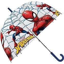 Spiderman Paraguas Transparente 48cm Campana Manual de Paraguas Clásico, 80 cm