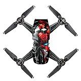 Meijunter 3M Körper Wasserdicht Kohlefaser Aufkleber Abziehbild Aufkleber Skin für DJI Spark Drone Farbe CO8