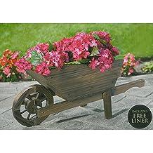 Carretilla de madera para jardin for Carretas de madera para jardin
