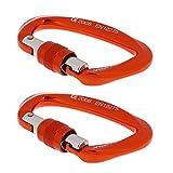 MagiDeal 2 Stück 25KN D Ring Schraubensicherung Sicherheits- Klettern Karabiner Schraubverschluss Karabinerhaken, Kletterhaken