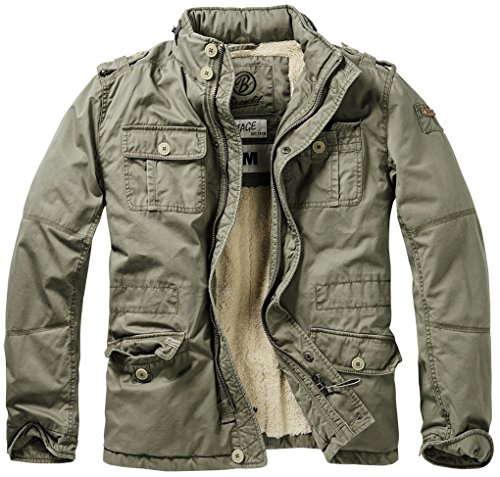 Herren-winter-jacken (Brandit Herren Jacke Britannia Winter, Grün (Oliv 1), Medium)
