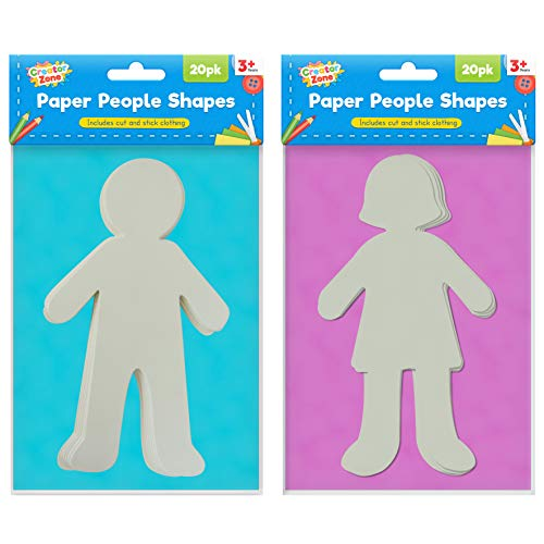 40 Paper People Cut Outs for Kid...