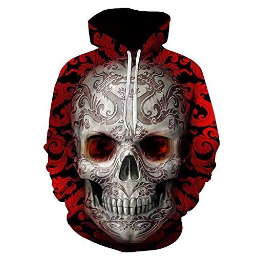 GEFANENR 3D Sweatshirts Print Creative Dragon Pattern Skull Men/Women Hooded Hoodies,Picture,5XL (Womens Adidas Dragon)