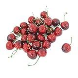 sourcingmap® 30 Stück aus Kirsche dunkel rot künstliche Früchte, Hochzeitsdekoration,