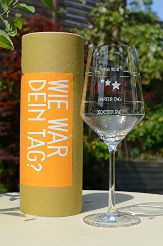 Sternefresser Wie War Dein Tag-Weinglas (1x 540ml Glas) von Schott Zwiesel | Made in Germany | Guter...