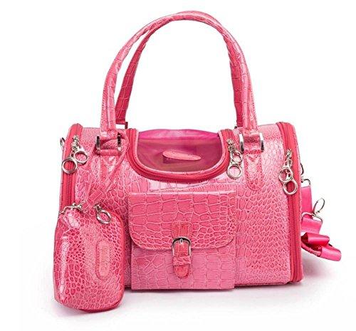 ZZHH Fuori loro scatola di pet carrier bag zaino portatile gatto dell'animale domestico . red . 34cm*22cm*20cm