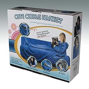kuscheldecke mit rmel blau fleecedecke wohnmantel wohndecke tagesdecke k che. Black Bedroom Furniture Sets. Home Design Ideas