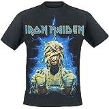 Iron Maiden Powerslave Mummy Camiseta Negro