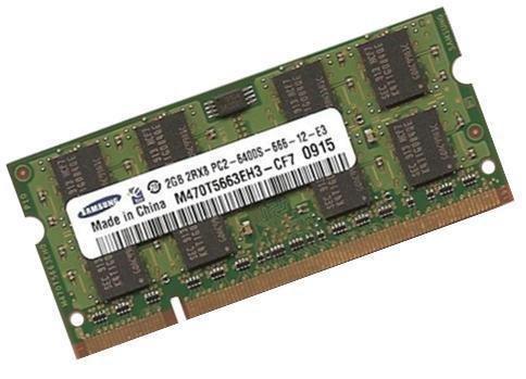 Samsung original SO-DDR2 2 GB 200 pin DDR2-800 (PC2-6400) 128Mx8x16 double side (M470T5663QZ3-CF7) (2048 Mb Ddr2-speicher)