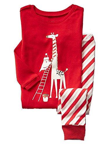 Baby Pyjama Baumwolle Kleinkind Jungen Kinder Giraffe Nachtwäsche Nachtwäsche Pyjamas Set 2 Jahre (Mädchen Baumwolle Nachtwäsche)