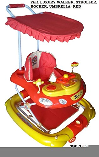 Her Home Luxury 7-in-1 Musical Baby Walker with Stroller & Umbrella (LIMITED EDITION COLOUR)