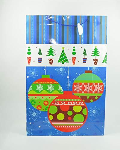 Shatchi 7167-GIFT-BAG-BLUE-XXL - Bolsa de regalo de Navidad, 17 cm, 74 cm, 49 cm, XXL, color azul
