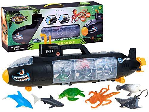 Juguete Baño - Submarino Juguete 6 Figuras Animales