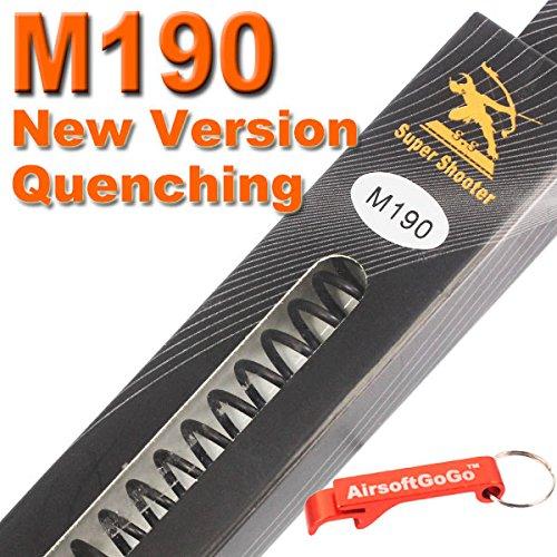 SS M190 Neue Version Quench AEG Feder für Softair Marui G&P G&G ICS Cybergun VFC - AirsoftGoGo Schlüsselanhänger Inklusive -