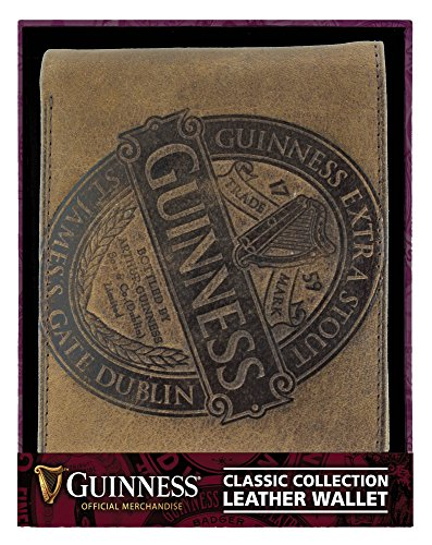 Classic Leather Classic Wallet (Guinness Brown Leather Wallet With Classic Collection Label Design)
