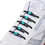 Hickies 2.0 Performance elastische Schnürsenkel, Einheitsgröße, nie wieder Schuhe binden - Schwarz Blau (14