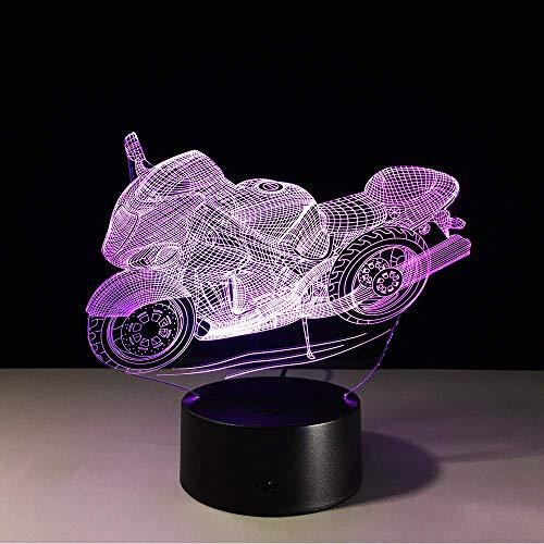 3D Motocross Fahrrad Nachtlichter Neuheit Motorrad 3D Tischlampe Usb 7 Farben Sensor Touch Schreibtischlampe Als Urlaub Awards Geschenke -