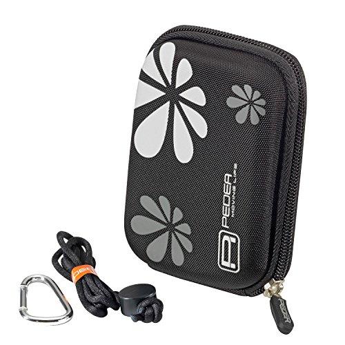 PEDEA Hardcase Kameratasche für Panasonic Lumix DMC FT5, FT25, GF3, LF1, TZ10, TZ22, TZ36, TZ41 / Sony DSC HX5, HX50V, WX300, WX350 / Nikon Coolpix S7000 / Samsung WB30F, WB35F mit Displayschutzfolie, schwarz (Lumix Gf3 Kamera Tasche)
