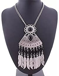 Shining Diva Fashion Jewellery Oxidized Silver Modern Western Party Wear Necklace For Women Stylish Necklace For...