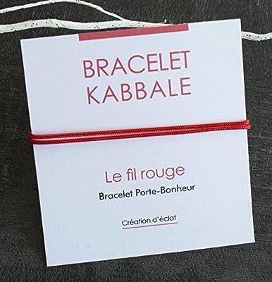 Bracelet Kabbale - cordon rouge - deux noeux coulissant