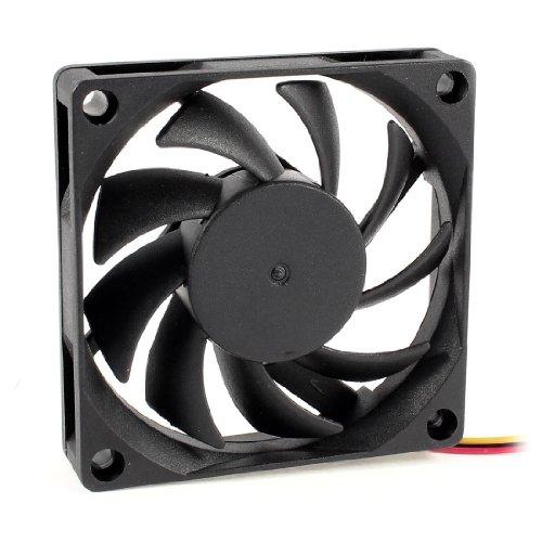 TOOGOO(R) 70x70mm 12V 3-Pines Ventilador de enfriamiento Enfriador sin cepillo DC CPU...