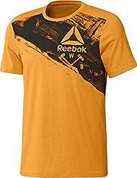 Reebok Speedwick Blend Craft Camiseta de Manga Corta, Hombre, Naranja (Firspa), L