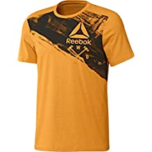 Reebok Speedwick Blend Craft Camiseta de Manga Corta, Hombre, Naranja (Firspa), L