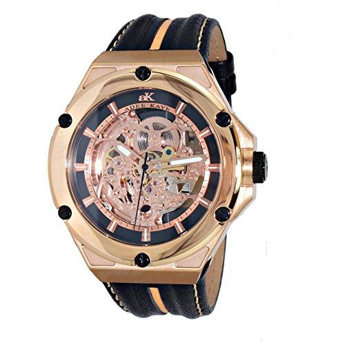 Adee Kaye Skeletal Men's Automatic Multicolor Calfskin Watch AK2240-MRG